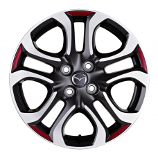 Mazda2 - Striping Sierrand tbv velg Design 154 - 2015